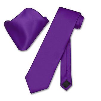 Vesuvio Napoli Solid halsduk näsduk mäns hals slips Set