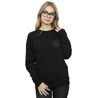 Marvel kvinders Black Panther sort på sort bryst Print Sweatshirt