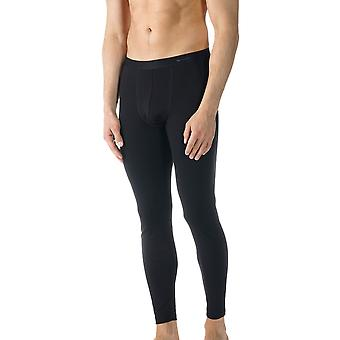 Algodão Casual cor preta sólida tornozelo comprimento Leggings Mey 49042-123 masculino