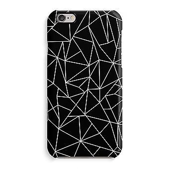 Caso iPhone 6 6s caso 3D (brilhante)-linhas geométricas branco