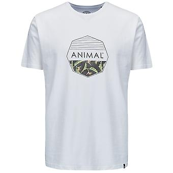 Animal Lamary Short Sleeve T-Shirt in White