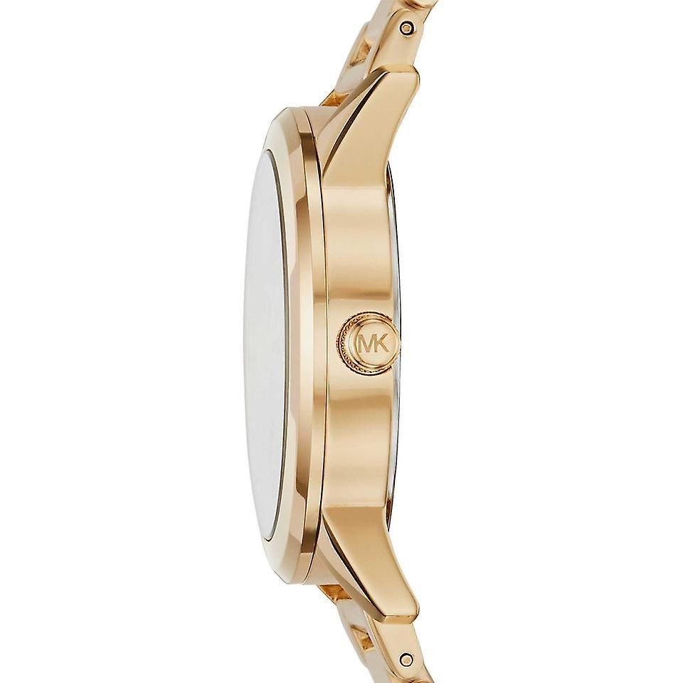 Michael Kors Hartman Womens Black Watch or acier inoxydable Bracelet cadran noir MK3647