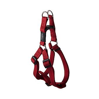 Rogz Utility Bright Reflective Durable Step-In Dog Harness, Red