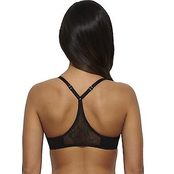 Gossard 13005- Women's Glossies Lace Black Sheer Lace Non-Padded Non-Wired Soft Triangle Bra