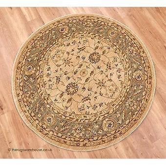 Raya Beige vihreä ympyrä matto