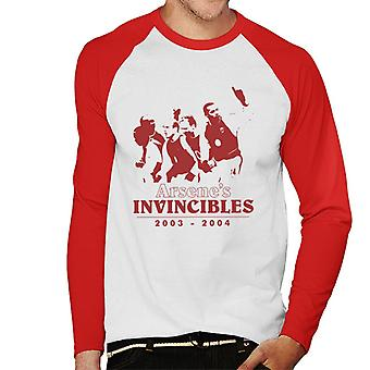 Arsenes Invincibles Arsene Wenger Arsenal mannen honkbal lange mouwen T-Shirt