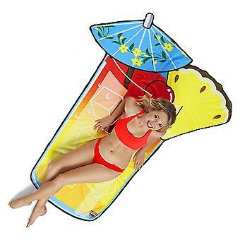 Håndklæde cocktail drink badehåndklæde strand tæppe cocktail klud plader ca. 216 x 100 cm