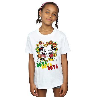Disney meninas Mickey e Minnie Mouse Hippie Love t-shirt