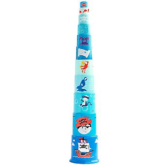 Gowi Toys Educational Pirate Pyramid Stacker Stacking Toy