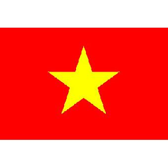 Vietnam/Vietnamese Flag 5ft x 3ft (100% Polyester) With Eyelets