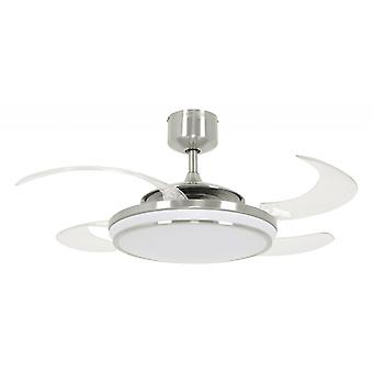 Ventilateur de toit rétractable Fanaway LED EVO1 brushed chrome