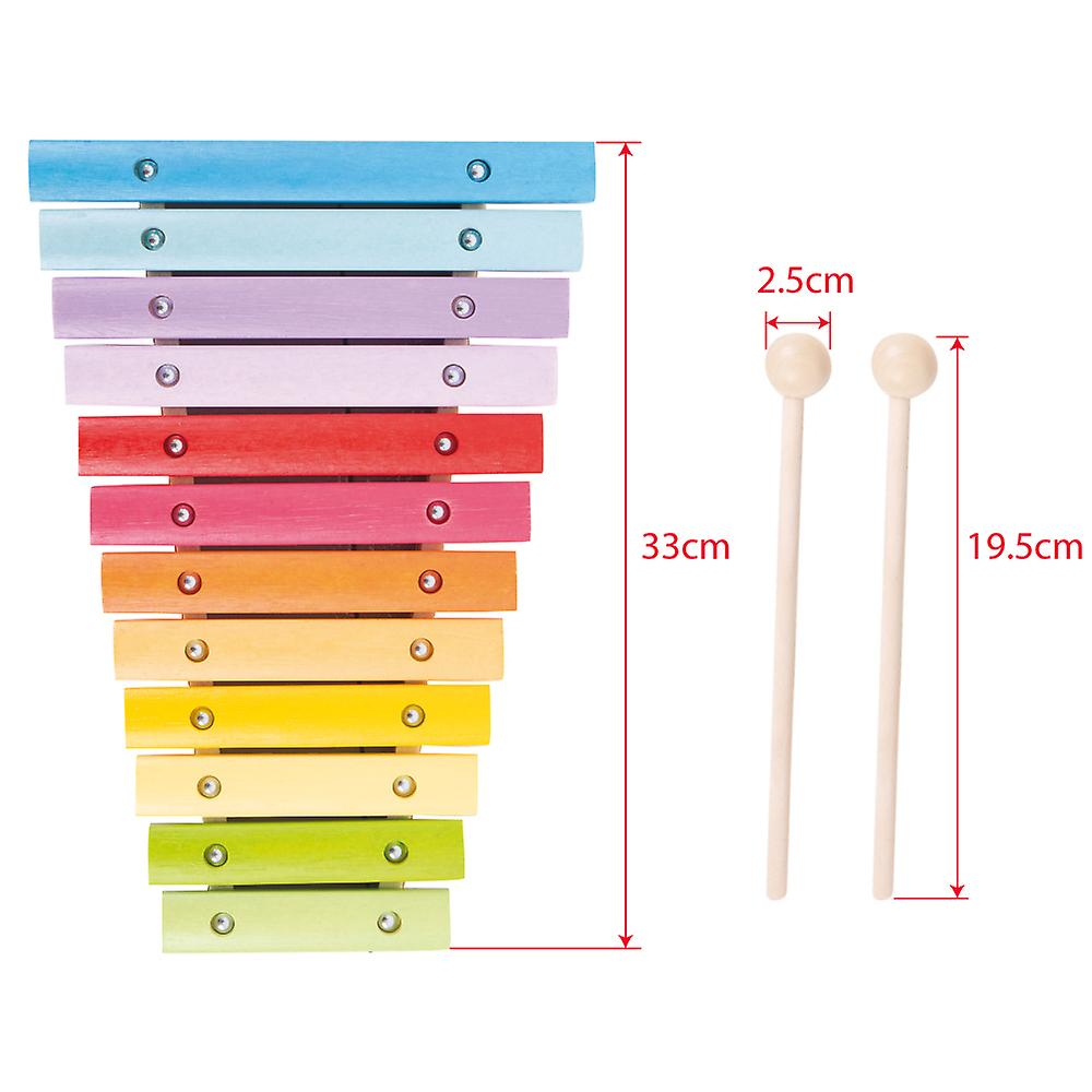 Bigjigs Toys Wooden Musical Snazzy Xylophone Music Instrument Kids Children