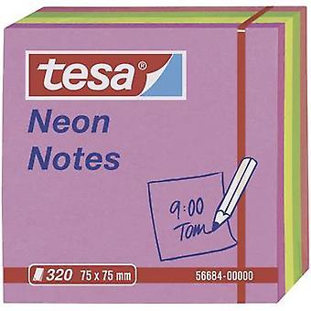 Tesa Neon noter 320 ark, rosa/RødGul/oransje