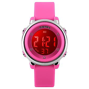 Skmei Girls Pink Digital Watch 50m Water Resistant With Stopwatch Alarm Ages 5+ DG1100