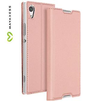 Mayaxess Skin Series Flip case, standing case for Sony Xperia XA1 - Pink