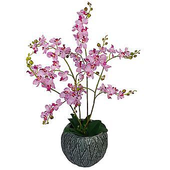 60cm lujo Artificial orquídeas - Triple tronco - Rosa planta realista