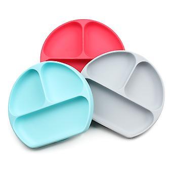 Bumkins Silikone Grip Dish, Sugeplade, Divided Baby / Toddler Plate, BPA Gratis, Mikrobølgeovn / Opvaskemaskine Sikker