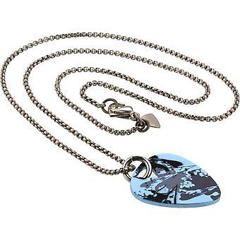 Ti2 Titanyum Plectrum Sıçrama Kolye - Gümüş/Açık Mavi
