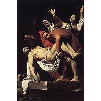 The Entombment of Christ, Michelangelo Merisi da Caravaggio, 60x40 cm