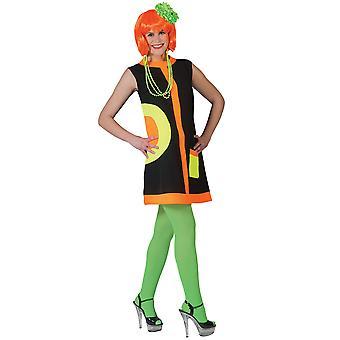 Femmes robe de costumes des années 70 au néon