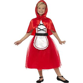 Deluxe Red Riding Hood Costume, rouge, avec robe & Hood