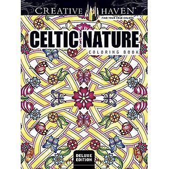 Haven créative Edition Deluxe Nature celtique dessins coloriages (coloriage adulte)