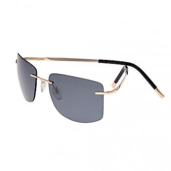 Breed Aero Polarized Sunglasses - Gold/Black