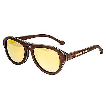 Earth Wood Clearwater Polarized Sunglasses - Zebra Rosewood/Yellow