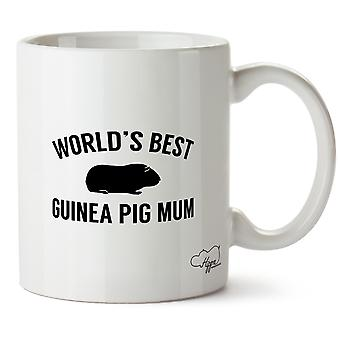 Hippowarehouse World's  Best Guinea Pig Mum Printed Mug Cup Ceramic 10oz