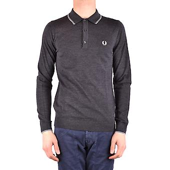 Fred Perry Ezbc094044 Män's Grå Ull Polo Shirt