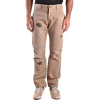 Daniele Alessandrini Ezbc107063 Men's Beige Cotton Pants