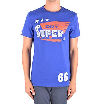 Superdry Ezbc114009 Hombres's Camiseta de Algodón Azul