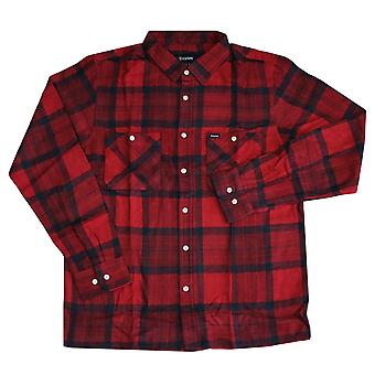Brixton Milton Pitkähihaiset flanelli paita punainen