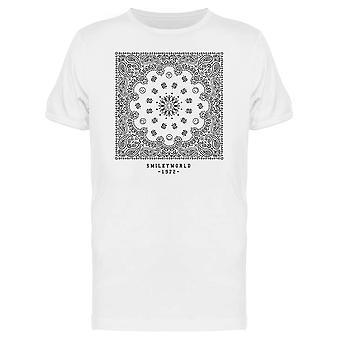 SmileyWorld 1972 Bandana Pattern Graphic Men's T-shirt