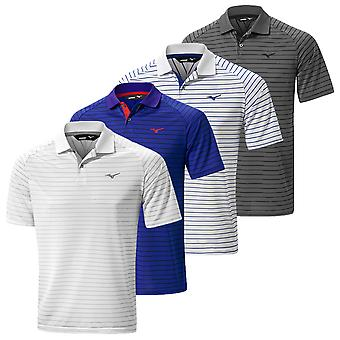 Mizuno Herren Quick Dry Stripe Golf Polo Shirt