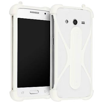 Coque Smartphone Universelle Muvit Life Silicone Souple - Fonction stand - Blanc