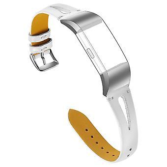FitBit charge 2 cinturino in vera pelle martellata effetto fibbia in metallo