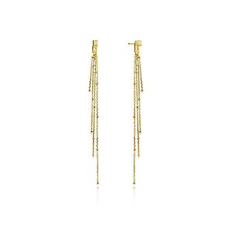 Ania Haie Gold Plated Sterling Silver 'Tassle' Drop Earrings