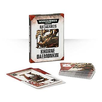 Games Workshop-Warhammer 40.000-datacards: Daemonkin Khorne