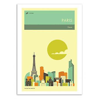 Art-Poster - Paris Travel Plakat - Jazzberry Blue