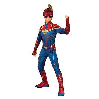 Girls Captain Marvel Costume