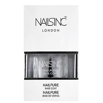 Nails inc Base Coat - Breathable & 6 Free - Nail Pure (7381) 14ml