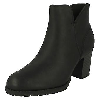 Ladies Clarks Zip Up Ankle Boots Verona Trish