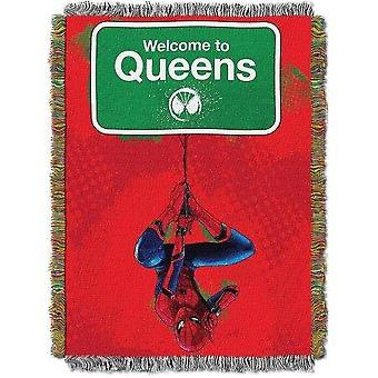 Tapestry Throw - Spider-Man Homecoming Queens Welcome #051 Woven New 48x60
