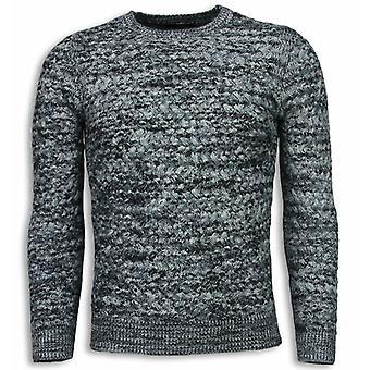 Suéter de malha - Cor Sweater Manga Comprida - Cinza