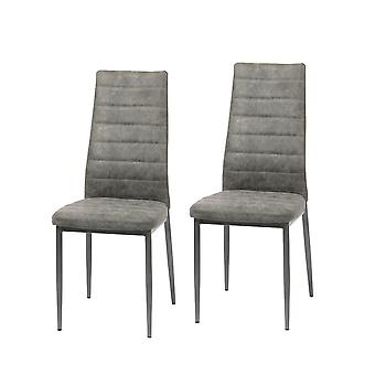 Set di sedie da sala da pranzo di 2 Ingvar grigio vintage 10791
