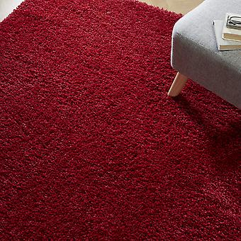 Brilliance Sparks Shaggy Rugs In Red
