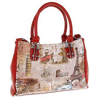 أناقة كبيرة مطبوعة حقيبة يد المتسوق حمل حقيبة المدن تصميم