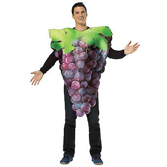 Get Real Purple Grapes Fruit Food Party Comical Womens Mens Costume OS