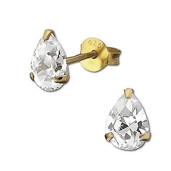 925 Sterling Women's Earrings Silver With White Zircons VSDO9147YW